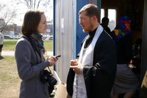 Интервью для  местной газеты