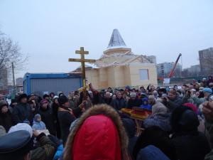 Собравшихся на молебен было более 200 человек